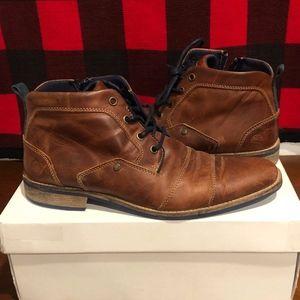 Steve Madden Limited Edition Kramerr Tan Leather 9